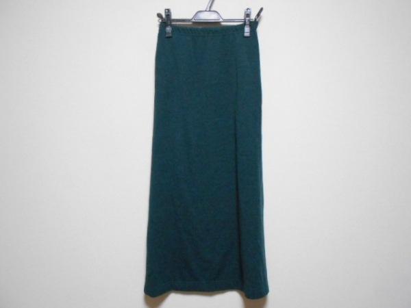 785e2e9a9a レキップ ヨシエイナバ ロングスカート サイズ9 M レディース ダークグリーン