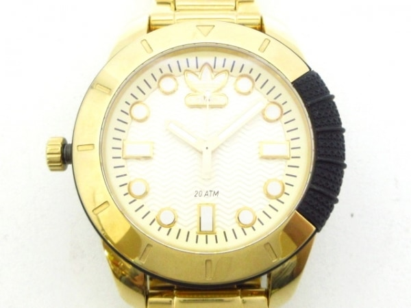 adidas(アディダス) 腕時計美品  ADH1969 メンズ アイボリー×ゴールド