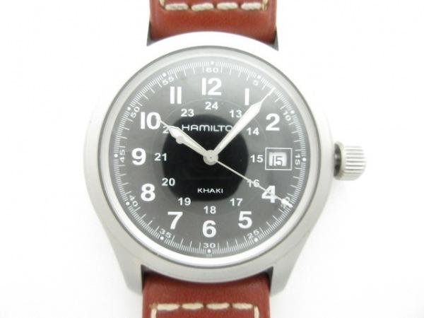 HAMILTON(ハミルトン) 腕時計美品  カーキフィールド H684112 メンズ 黒