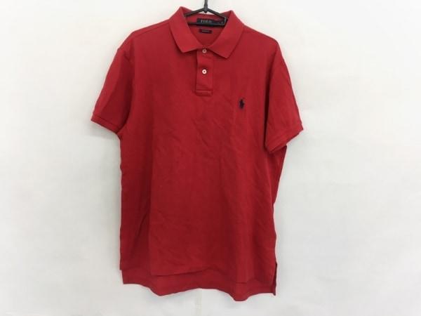POLObyRalphLauren(ポロラルフローレン) 半袖ポロシャツ サイズL メンズ レッド