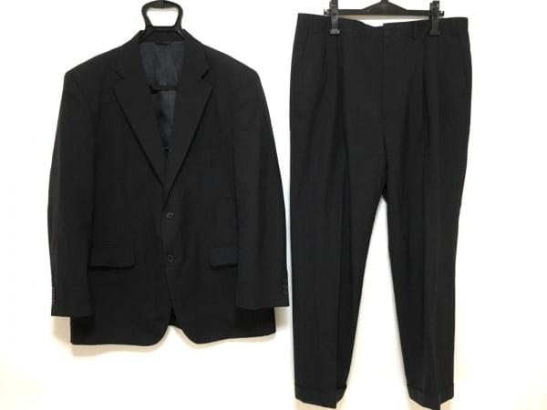 DURBAN(ダーバン) シングルスーツ メンズ ダークネイビー ネーム刺繍/ストライプ