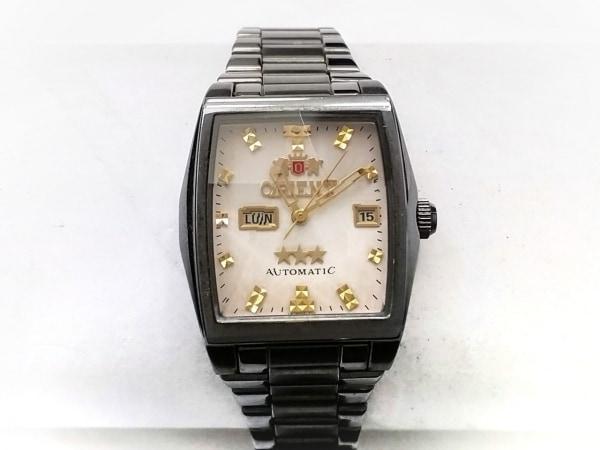 ORIENT(オリエント) 腕時計 スリースター NQAC-SO レディース アイボリー