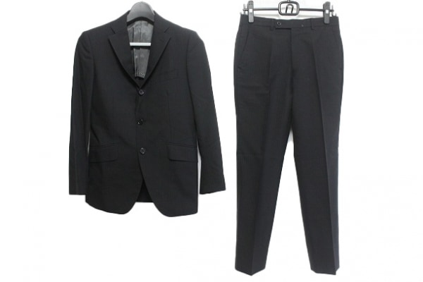LE COSTUME (BOYCOTT)(ボイコット) シングルスーツ サイズ1 S メンズ 黒 ストライプ