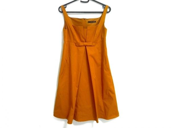 フォクシーニューヨーク ワンピース サイズ38 M レディース美品  オレンジ リボン
