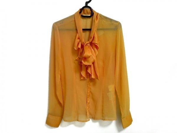 ナラカミーチェ 長袖シャツブラウス サイズ0 XS レディース美品  オレンジ フリル