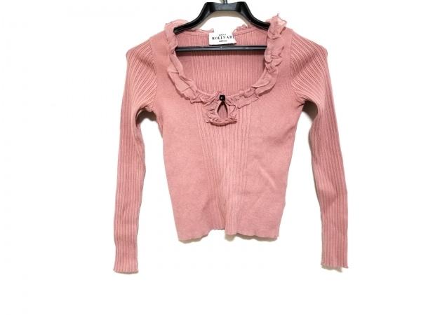 アンナモリナーリ 長袖セーター サイズI40 M レディース美品  ピンク フリル