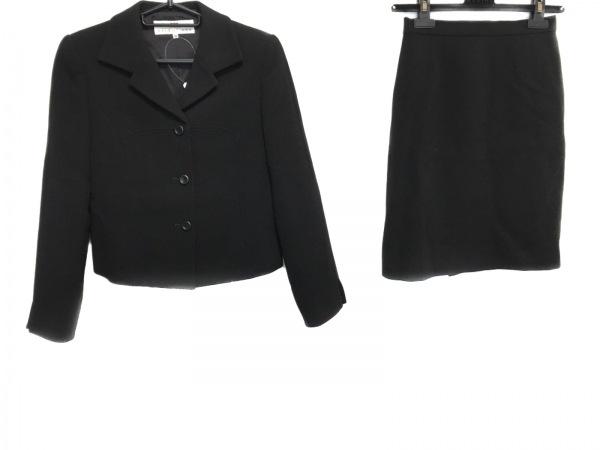 バレンシアガライセンス スカートスーツ サイズ38 M レディース美品  黒 La Mode