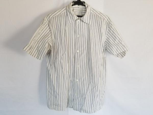 イッセイミヤケデザインスタジオ 半袖シャツ サイズS メンズ ダークグレー×ブルー