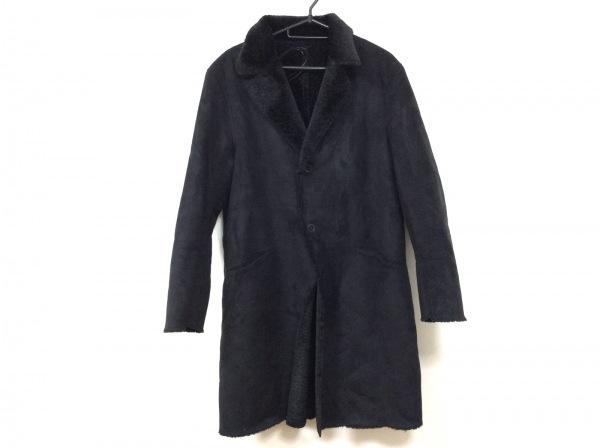 UNITED ARROWS(ユナイテッドアローズ) コート メンズ 黒 フェイクファー/冬物