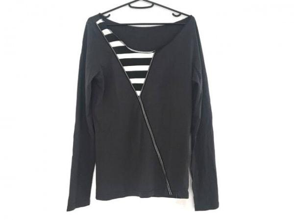 ジーンズポールゴルチエ 長袖カットソー サイズXS レディース ダークグレー×黒×白