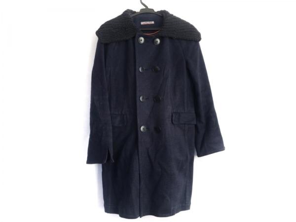 Umii 908(ウミ908) コート サイズ2 M レディース ネイビー 冬物