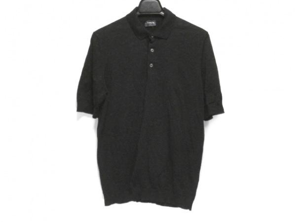 Drumohr(ドルモア) 半袖ポロシャツ サイズ46 XL レディース 黒 ニット