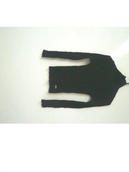 ヴェルサーチジーンズ 長袖セーター サイズS レディース新品同様  黒 ハイネック