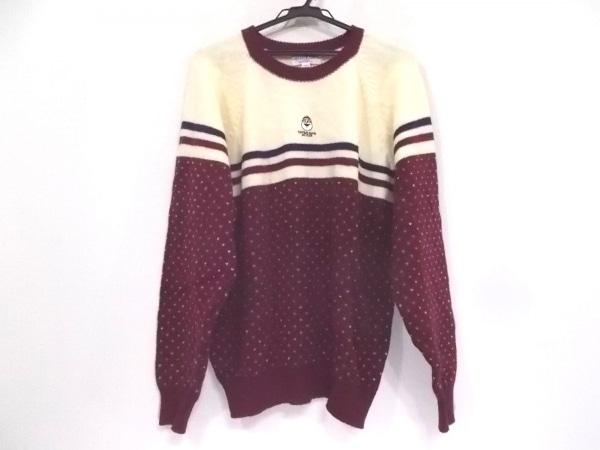 キャプテンサンタ 長袖セーター サイズM メンズ ボルドー×白×ダークネイビー