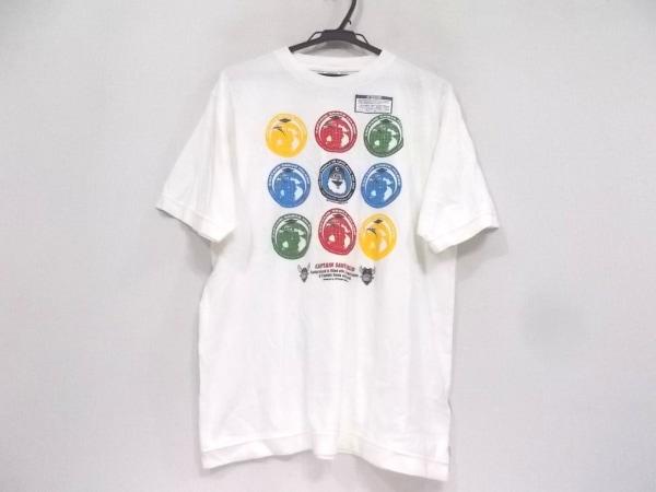 CAPTAIN SANTA(キャプテンサンタ) 半袖Tシャツ サイズM メンズ 白×マルチ
