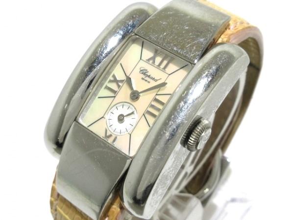 ショパール 腕時計 ラ・ストラーダ 41/8357 レディース 革ベルト/シェル文字盤