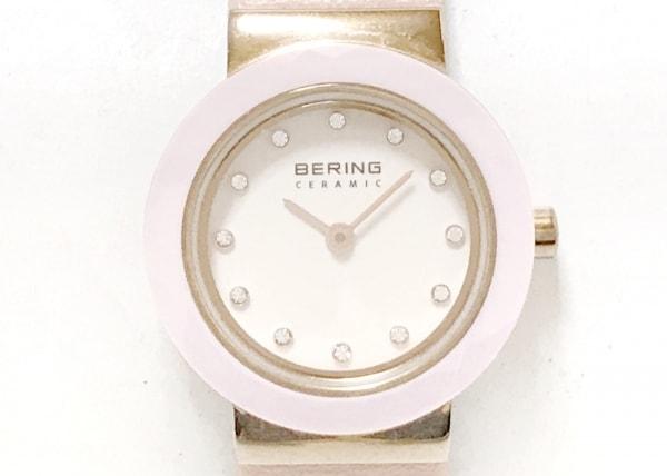 BERING(ベーリング) 腕時計 10725-969 レディース 革ベルト 白