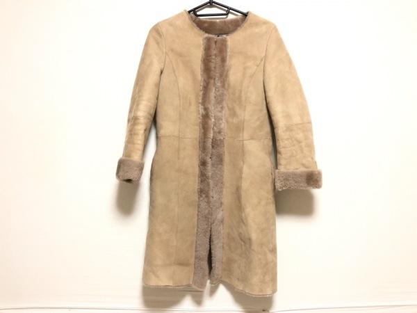 ユナイテッドアローズ コート サイズ40 M レディース ベージュ 冬物/ムートン