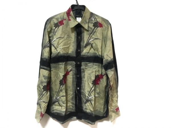 アニエスベー 長袖シャツ サイズ4 XL メンズ美品  カーキ×マルチ 花柄/homme