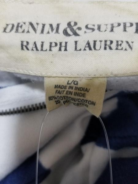 ラルフローレンデニム&サプライ パーカー サイズL/G L メンズ美品  - - ネイビー×白