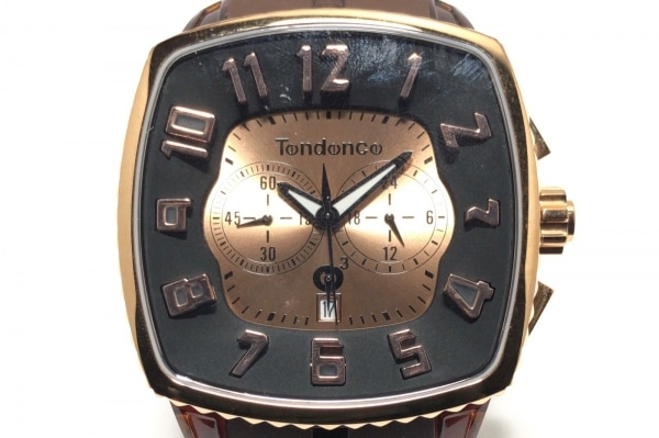 TENDENCE(テンデンス) 腕時計 - - メンズ クロノグラフ/ラバーベルト ゴールド×黒