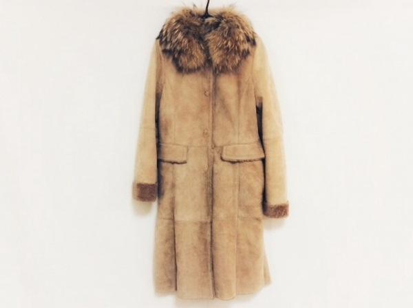 BALLSEY(ボールジー) コート サイズ38 M レディース ベージュ 冬物/ムートン/ファー