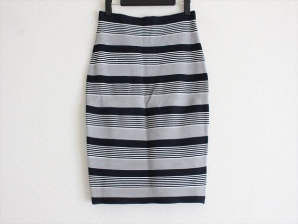 23区(ニジュウサンク) スカート サイズ36 S レディース ダークネイビー×白×グレー