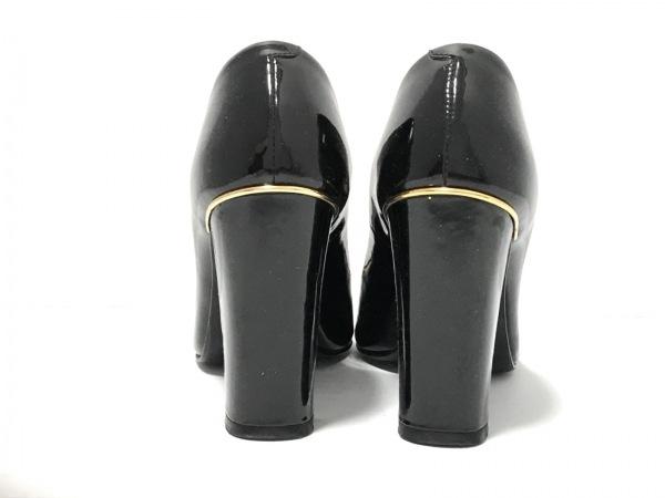 ビバアンジェリーナ パンプス 22 レディース美品  黒 エナメル(レザー)