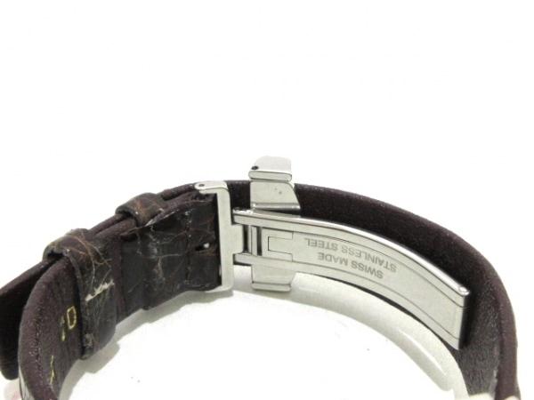ティファニー 腕時計 アトラススクエア - レディース 革ベルト 黒 4