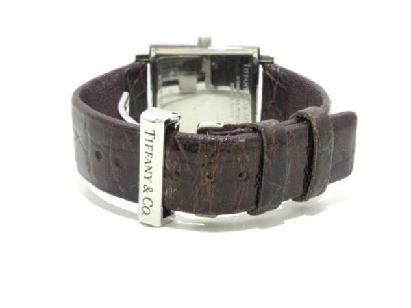 ティファニー 腕時計 アトラススクエア - レディース 革ベルト 黒 5