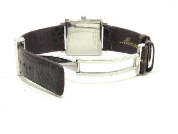ティファニー 腕時計 アトラススクエア - レディース 革ベルト 黒 6