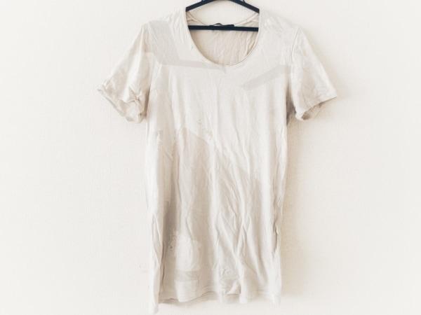 エムエーユリウス 半袖Tシャツ サイズ2 M メンズ美品  アイボリー×ライトグレー