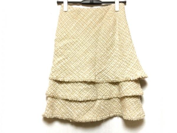 EPOCA(エポカ) スカート サイズ38 M レディース ベージュ×アイボリー