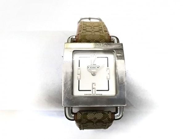 COACH(コーチ) 腕時計 ミニシグネチャー柄 0221 レディース 白