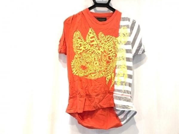 kolor(カラー) 半袖Tシャツ サイズ1 S メンズ レッド×イエロー×マルチ