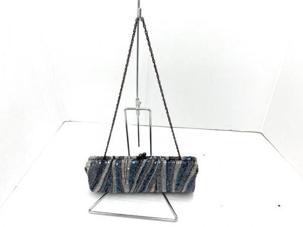SANTI(サンティ) ショルダーバッグ新品同様  ブルー×マルチ スパンコール