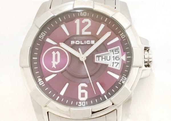 POLICE(ポリス) 腕時計 12221J メンズ ボルドー