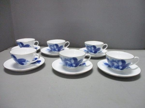 オオクラチャイナ カップ&ソーサー新品同様  白×ネイビー 陶器