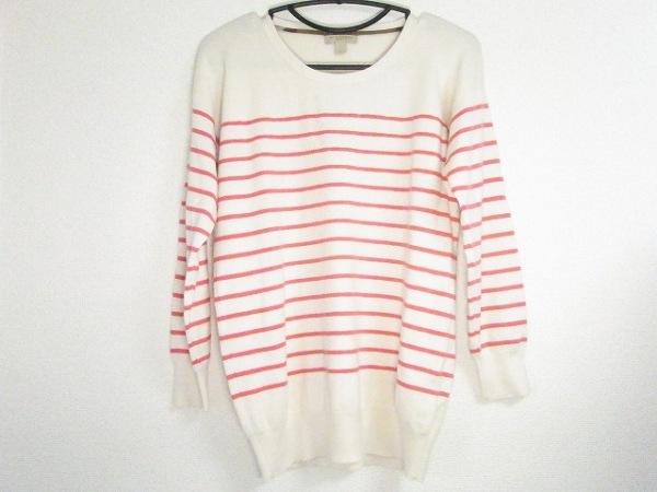 バーバリーブリット 長袖セーター サイズM レディース美品  アイボリー×ピンク