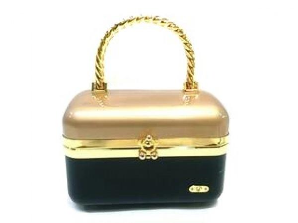パオロッティ バニティバッグ ベージュ×黒×ゴールド プラスチック×金属素材