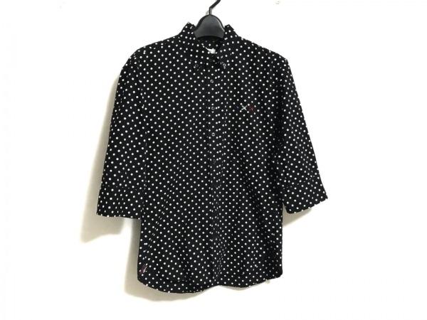 GUILD PRIME(ギルドプライム) 七分袖シャツ サイズ1 S メンズ美品  黒×白 ドット柄