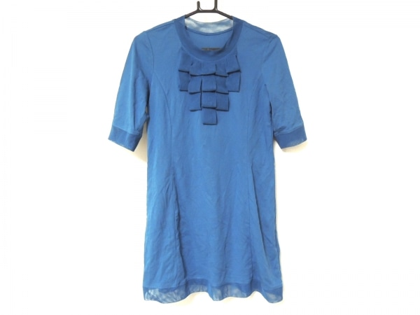 HIROKO BIS(ヒロコビス) ワンピース サイズ11 M レディース ブルー essentiel