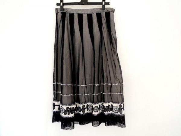 HIROKO BIS(ヒロコビス) スカート サイズ11 M レディース美品  黒×白