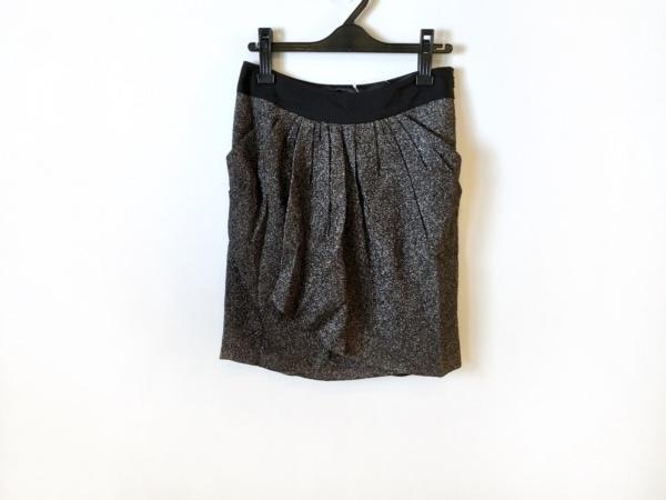 ADORE(アドーア) スカート サイズ38 M レディース美品  黒×シルバー ラメ