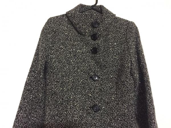 アプワイザーリッシェ コート サイズ2 M レディース 黒×アイボリー 冬物