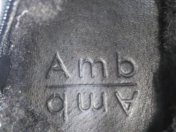 エーエムビー ショートブーツ 36 レディース美品  黒 スエード