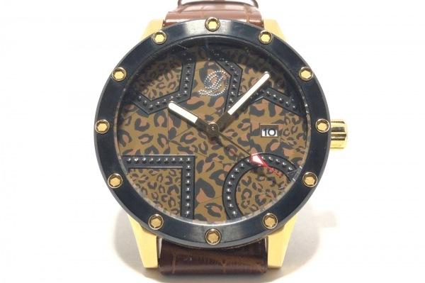エンジェルクローバー 腕時計 DC48 メンズ ×DRESSCAMP/型押し革ベルト/豹柄