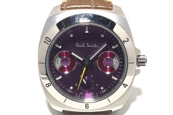 ポールスミス 腕時計 ディスク アイズ ミニ 6382-S066654 レディース パープル