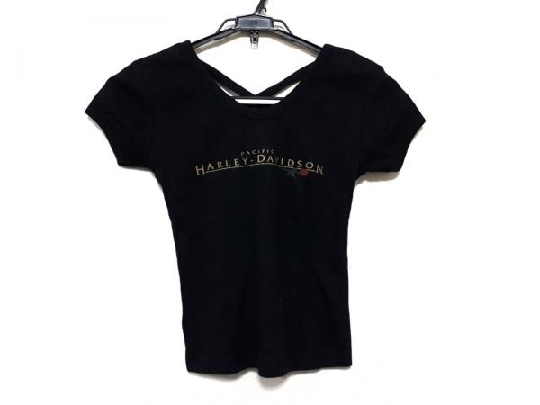 HARLEY DAVIDSON(ハーレーダビッドソン) 半袖カットソー サイズXS レディース美品  黒