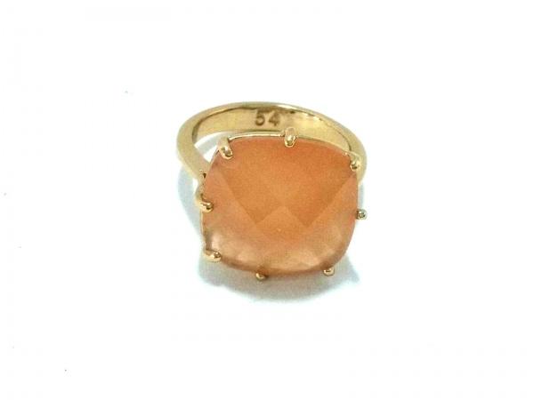 レネレイド リング 54美品  カラーストーン×金属素材 ピンク×ゴールド サイズ:54